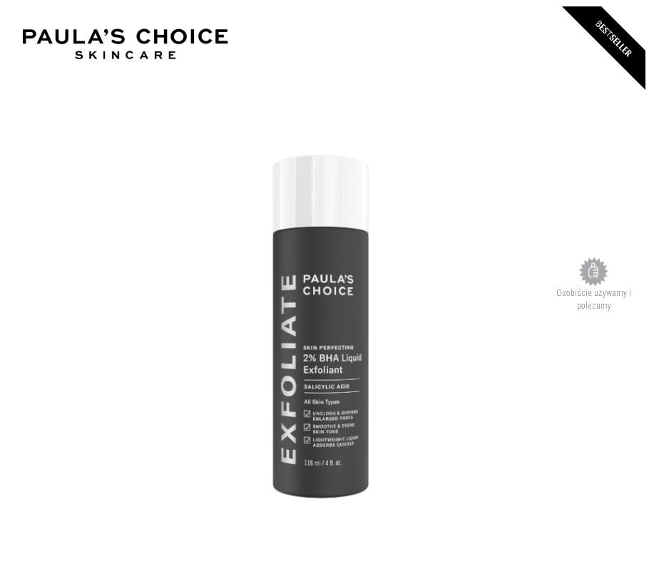 Paulas Choice z 2 % kwasem salicylowym.